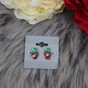 Parrot Bird Stud Earrings